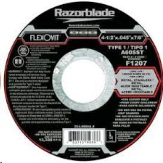 Where to find CUTOFF WHEEL, FLEXOVIT 4 1 2 in Cottonwood